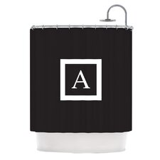 Monogram Solid Shower Curtain