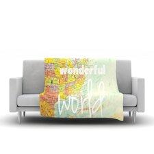 What A Wonderful World Throw Blanket