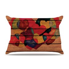 Wooden Heart Pillow Case