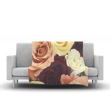 Vintage Roses Throw Blanket