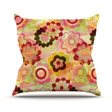 Colorful Mix Outdoor Throw Pillow