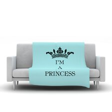 Im A Princess Throw Blanket
