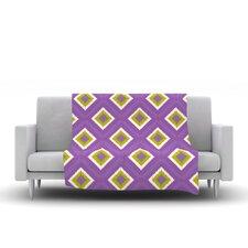 Purple Splash Tile Throw Blanket