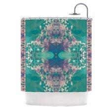 Ashby Blossom Teal Shower Curtain