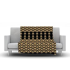 Deco Angles Gold Black Throw Blanket