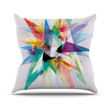 Colorful Rainbow Abstract Outdoor Throw Pillow