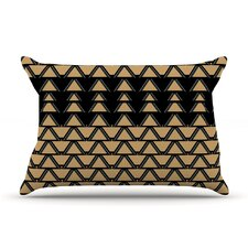 Deco Angles Gold Black Pillow Case