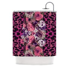 Rose Strip Shower Curtain
