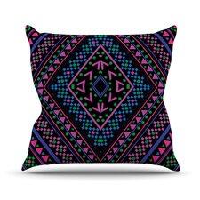 Neon Pattern Outdoor Throw Pillow