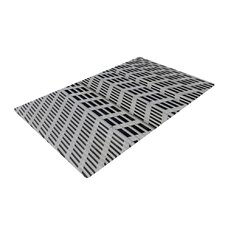 The Grid Gray/Black Novelty Rug