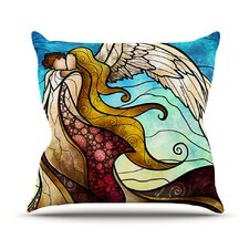 In The Arms of The Angel Throw Pillow