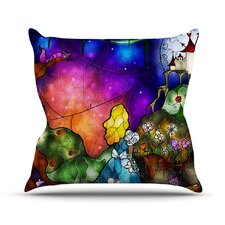 Fairy Tale Alice in Wonderland Outdoor Throw Pillow