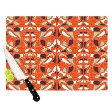 Orange Swirl Kiss Cutting Board