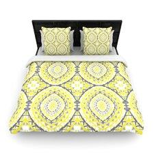 """Yellow Tessellation"" Woven Comforter Duvet Cover"