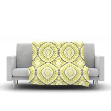 Yellow Tessellation Throw Blanket