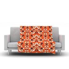 Orange Swirl Kiss Throw Blanket