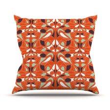 Orange Swirl Kiss Throw Pillow