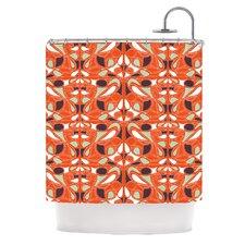 Orange Swirl Kiss Shower Curtain