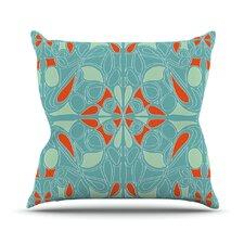 Seafoam and Orange Throw Pillow