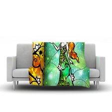 Fairy Tale Frog Prince Throw Blanket
