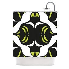 Green White Jaws Shower Curtain