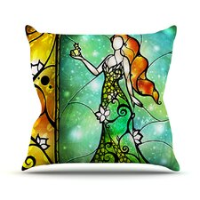 Fairy Tale Froq prince Throw Pillow
