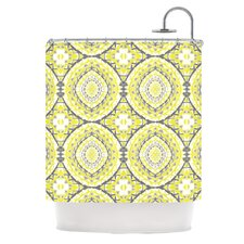 Yellow Tessellation Shower Curtain