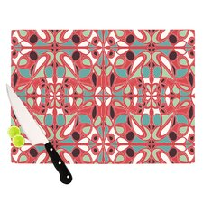 Stained Glass Pink Cutting Board