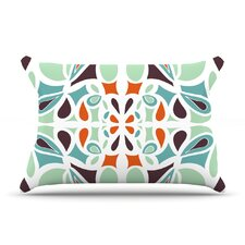 Stained Glass Orange Purple Pillow Case
