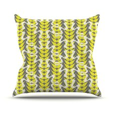 Whirling Leaves Throw Pillow