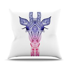 Rainbow Giraffe Throw Pillow