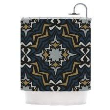 Winter Fractals Shower Curtain