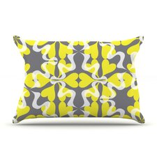 Flowering Hearts Pillow Case