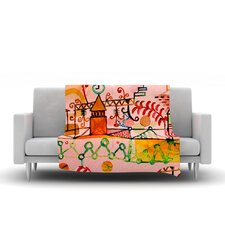 Happy Town Throw Blanket