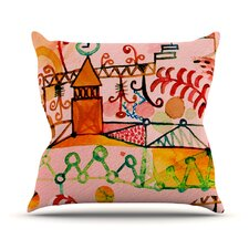 Happy Town Throw Pillow