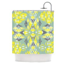 Joyful Teal Shower Curtain