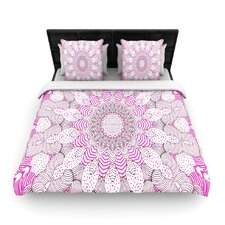 """Dots and Stripes Pink"" Pattern Woven Comforter Duvet Cover"
