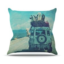 Never Stop Exploring III Throw Pillow