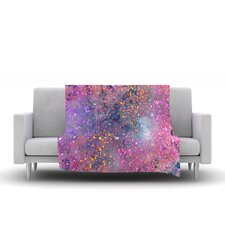 Pink Universe Throw Blanket