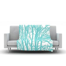 Mint Trees Throw Blanket