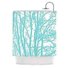 Mint Trees Shower Curtain