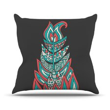 A Romantic Feather by Pom Graphic Throw Pillow