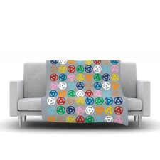 Roll with It On Grey Throw Blanket