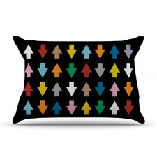 Arrows Up And Down Pillow Case