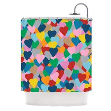More Hearts Shower Curtain