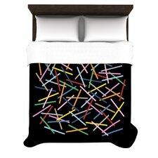 """""""Sprinkles on Black"""" Woven Comforter Duvet Cover"""