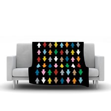 Arrows Up And Down Throw Blanket