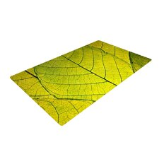 Every Leaf a Flower Green Area Rug