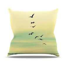 Across The Endless Sea Throw Pillow