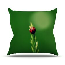 Ladybug Hugs Throw Pillow